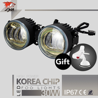 LYC Headlights And Fog Lights Fog Lights On Top of Truck Overhead Fog Lamps Offroad 1800LM Led Fog Lamp Synchronous steering