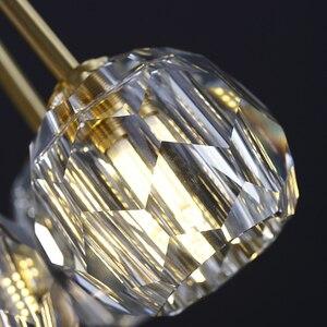 Image 4 - Yeni kristal modern avize abartılı bakır İskandinav restoran oturma odası yatak odası dekorasyon lamba