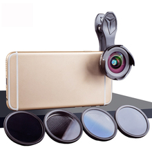 Phone Camera Lens Kit HD Professional Wide Angle/Macro Lens with Grad Filter CPL ND Filter for Android ios Smartphone цена и фото