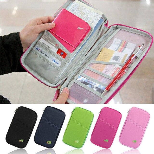 601f1b9edb39 1PC Oxford cloth Passport Credit ID Card Cash Organizer For Travel Storage  Bags