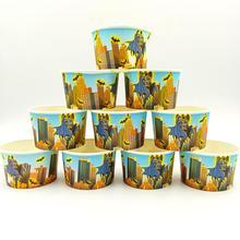 10pcs/lot Batman Theme Ice Cream Cups Baby Shower Party Supplies Bowl Kids Birthday Decoration