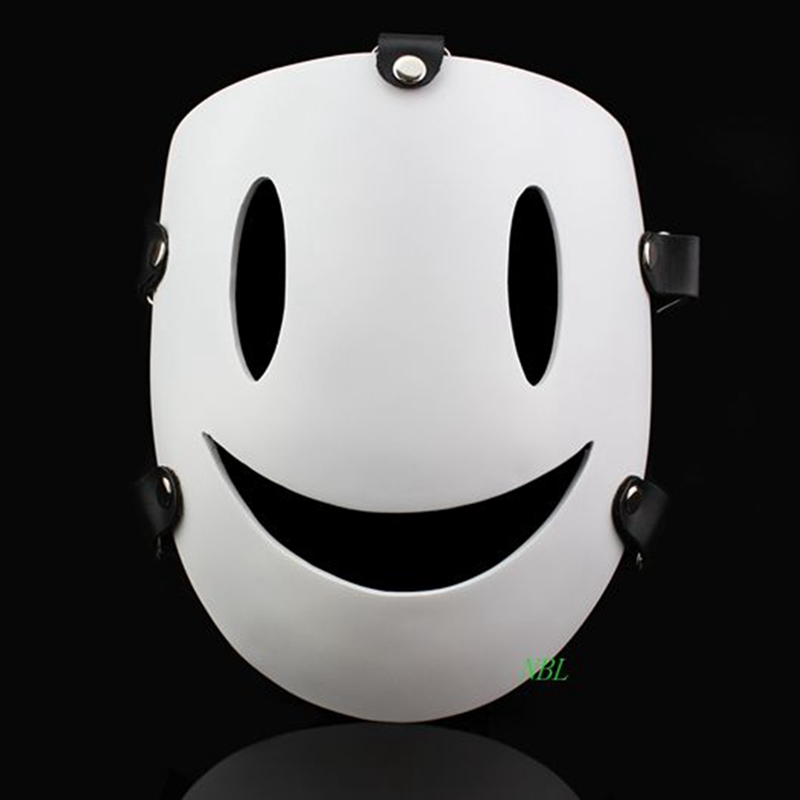 Halloween Cartoon Sky Violations Smile Masks Japanese Air Murders White Resin Mask Masquerade Carnival Party Cosplay Adult Size