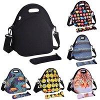 2017 New Arrival Insulated Lunch Bags Waterproof Neoprene Picnic Handbag With Tableware Pocket Children Women Snacks