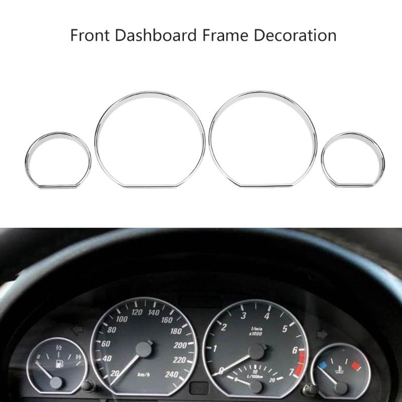 VODOOL 4pcs Car Front Dashboard Decoration Frame Car Styling Auto Front Cover for BMW E46 Car Auto Replacement Part Accessories