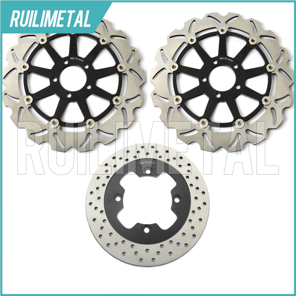 Avant Arrière Frein Disques Rotors pour Kawasaki ZZR1100 ZZ-R ZZR 1100 D 93 94 95 96 97 98 99 00 01 D1 D2 D3 D4 D5 D6 D7 D8 D9 Nouveau