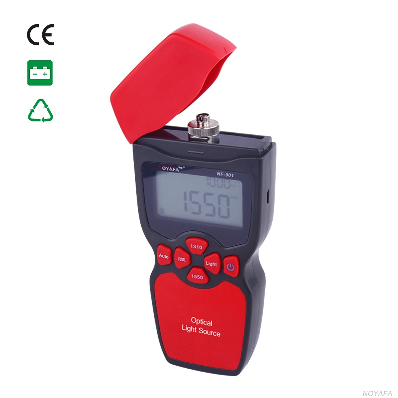 Free shipping, Noyafa NF-901 Digital Handheld Optical light source with 1310/1550nm FC/SC/ST general-purpose interface to choose free shipping noyafa nf 906c new optical power meter 850 1300 1310 1490 1550 1625nm and detecting range dbm 50 26