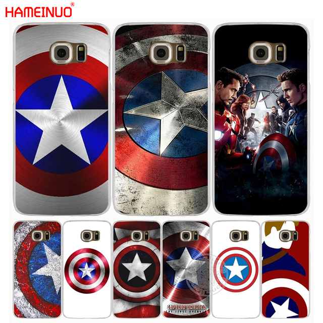 brand new 322f6 f1eef US $1.99 32% OFF|HAMEINUO Marvel Hero Captain America cell phone case cover  for Samsung Galaxy S7 edge PLUS S8 S6 S5 S4 S3 MINI-in Half-wrapped Case ...