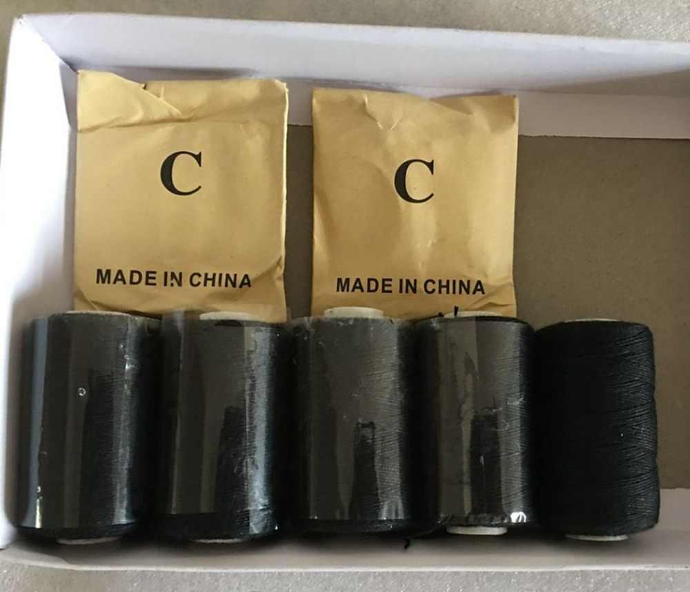Нитка, иголка комплект 25 шт. C изогнутая игла с подарочной 5 рулонов черный волосяная нить хлопковые нитки для шитья