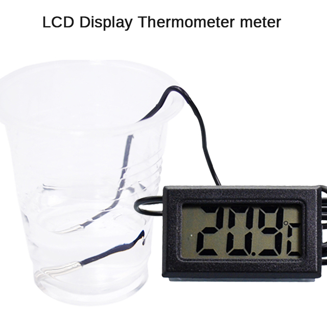LCD Display Digital thermometer with probe/electronic thermometer/sensor/bathtub/thermometer refresh in 2 seconds