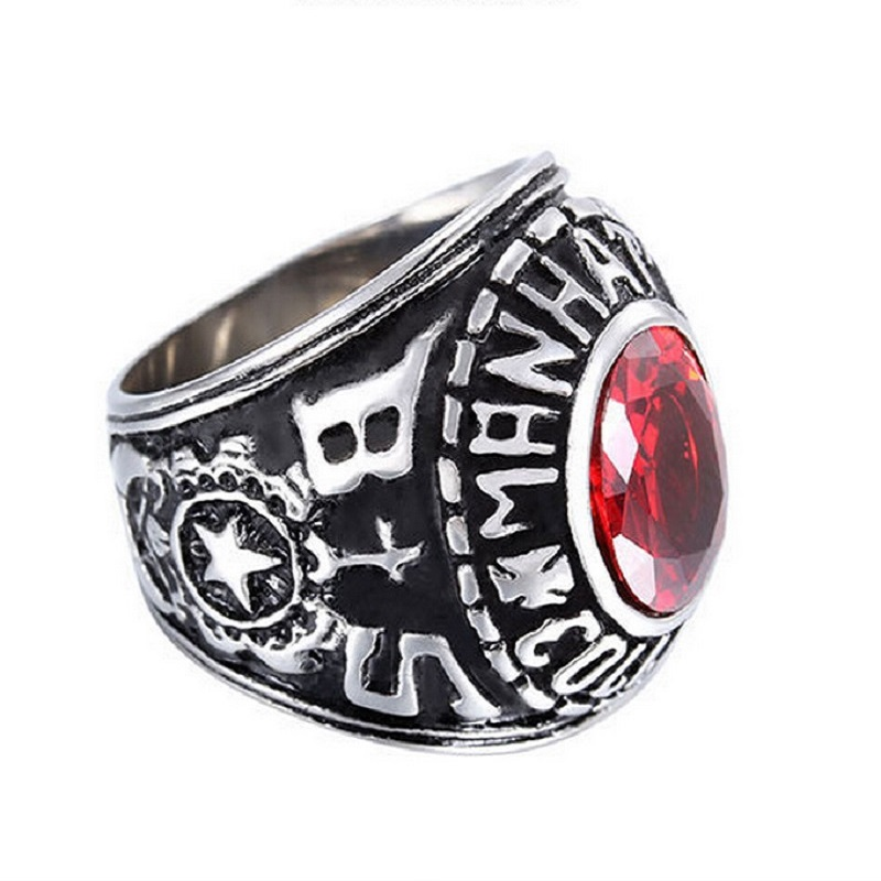 Retro style male ring united states army male ring stainless steel plated army veteran rings for men