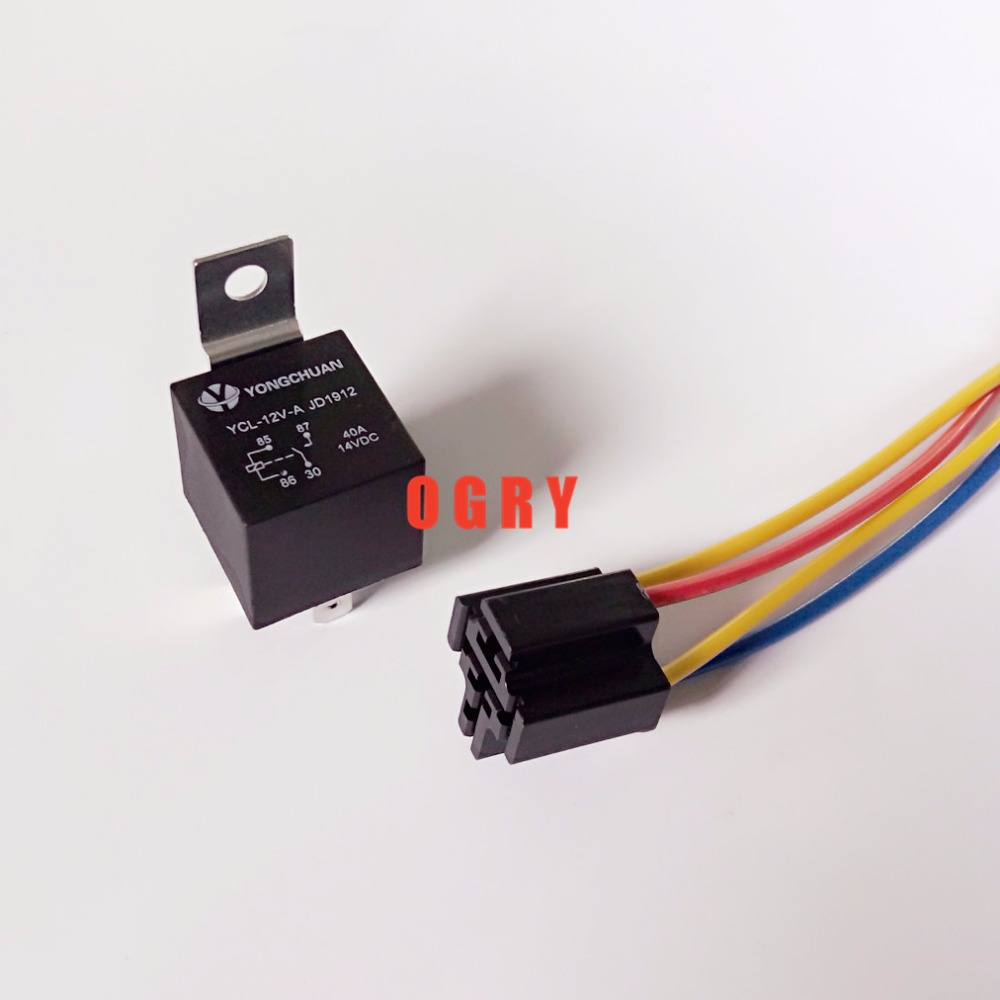 Wiring Relay Pins Hot Sale Jd1912 40a Waterproof Automotive Relays 12vdc 24vdc 4 Copper 1no 1nc Iron Sheet Four Wire Socket