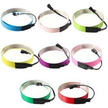 Tira de luces led de neón Flexible, de 1m Cable EL, resistente al agua + funda de batería de 3V para zapatos, ropa y coche, nuevo