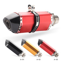 51MM Motorcycle Muffler Exhaust Pipe Escape Moto Modified Scooter akrapovic For CBR1000 MT07 CB400 R6 TMAX530 GSR600 ATV