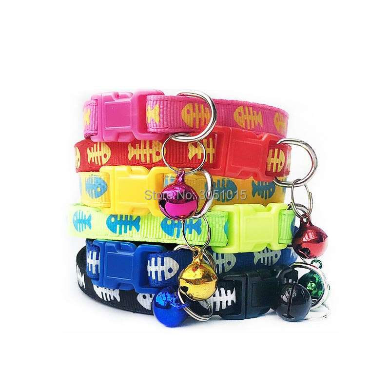 Wholesale 100Pcs Cat Dog Collar With Bell Adjustable Buckle Dog Collar Cat Puppy Pet Supplies Shop