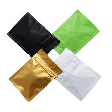 200pcs/lot 4 color Aluminum Foil Ziplock Packing Bags Reclosable Food Storage Zip Lock Packaging Pouch Tea Snack