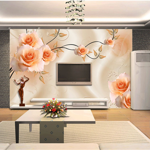 Large Custom Papel Flower Mural Rose 5d Wall Photo Mural 3d Wallpaper for SofaTV Background 3d Wall Murals Wall paper Fresco custom 3d photo wallpaper mural nordic cartoon animals forests 3d background murals wall paper for chirdlen s room wall paper