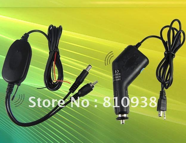 Wireless Backup System,2.4 Ghz Wireless Transmitter and Receiver &Receiver kit for car dvd car monitor to connect the car camera