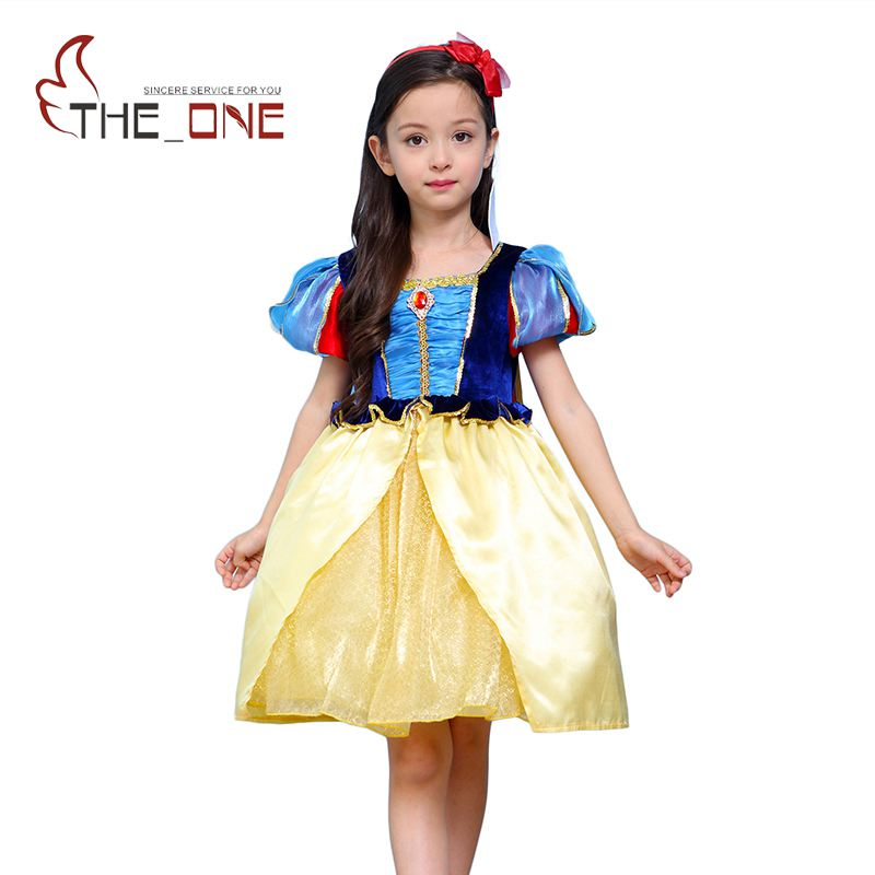 Girls Snow White Cosplay Costume Children 2 Styles Princess Dresses with Cape Kids Lace Layered Tutu Dress Ballgown Clothing kids girls summer cotton dress children girl snow white sofia cinderella rapunzel princess dresses 1 5t cosplay costume t469