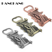 Men's Keychain ITALIA VENEZIA Relief Building Metal key Ring Bar Beer Bottle opener Key Chains Creative Trink llaveros souvenir(China)