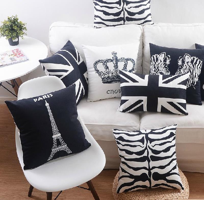 18 nordic black white retro micro suede cushion cover sofa decor throw pillow home car chair. Black Bedroom Furniture Sets. Home Design Ideas