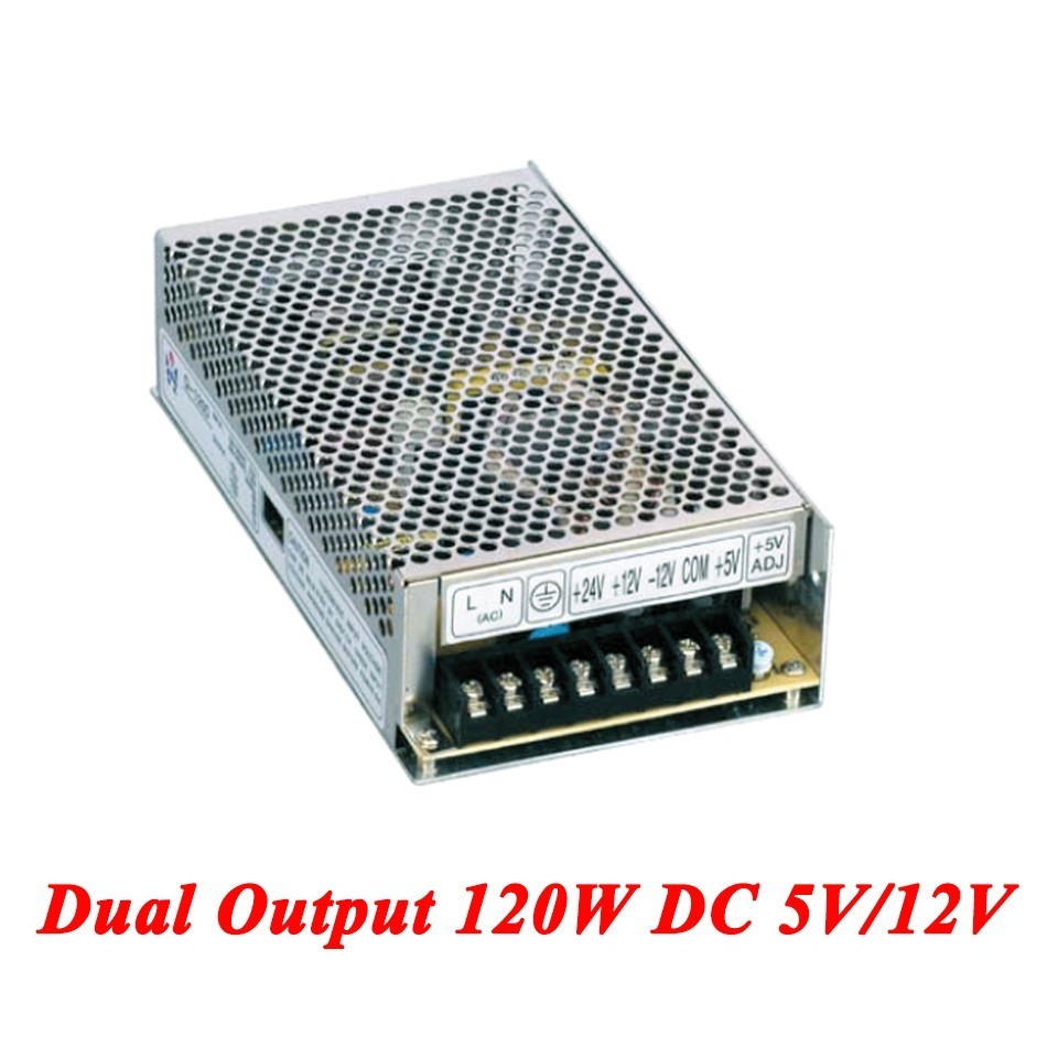 D-120A Switching Power Supply 120W 5V/12V,Double Output Watt Power Supply For Led Strip,AC110V/220V Transformer To DC,led Driver professional switching power supply 120w 12v 10a manufacturer 120w 12v power supply transformer