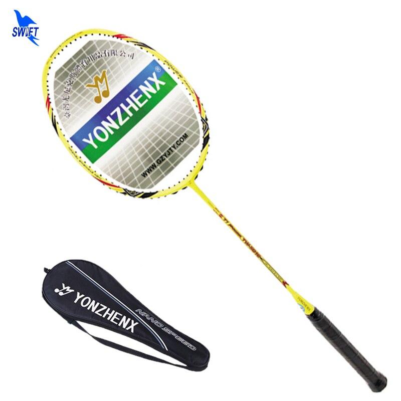 High Modulus Graphite Badminton Racket 20Lbs 3U Carbon Single Badminton Racquet G3 Handle Professional Game With Original Bag