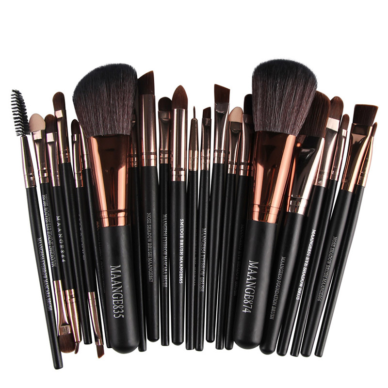 F New Pro 22Pcs Cosmetic Makeup Brushes Set Bulsh Powder Foundation Eyeshadow Eyeliner Lip Make up Brush Beauty Tools Maquiagem new 32 pcs makeup brush set powder foundation eyeshadow eyeliner lip cosmetic brushes kit beauty tools fm88