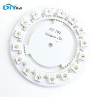 EL Products WS2811 5050 RGB LED Module Lamp Panel Round 16 Bit 60mm 5V Rainbow Precise