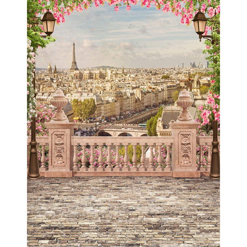 12 ft vinyl cloth print Paris Eiffel tower scenic photo studio backgrounds for photocall photography backdrops props S-2252 hp 15 ba000