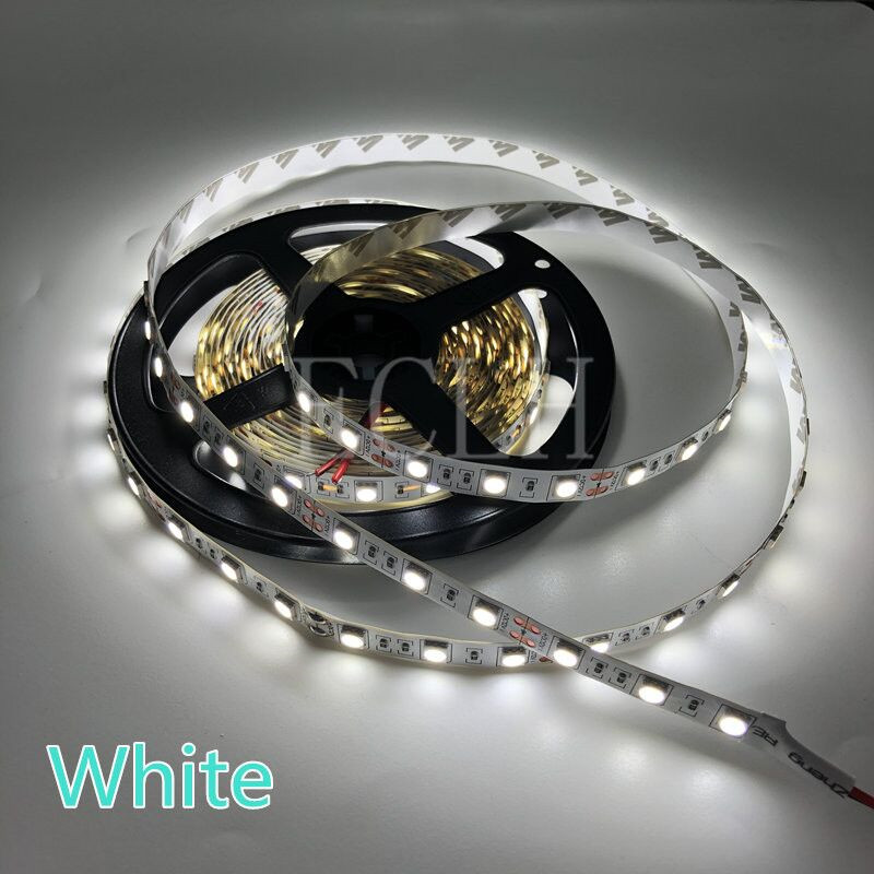 5M 2835 RGB LED Strip Light 300 LEDs DC 12V Red Green Blue Warm White Cool White Flexible SMD 2835 LED Diode Ribbon Tape Lamp sencart waterproof 12w 900lm 9500k 300 smd 3528 led cool white light strip white dc 12v 5m