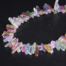"""155 """"нитка Цветные Титановые полированные кристаллические"""