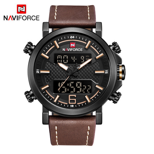 NAVIFORCE Fashion Men Watch Dual Display Watches Military