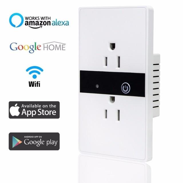 Smart WiFi Wall Socket Outlet,Wireless In Wall Light Switch Plate ...