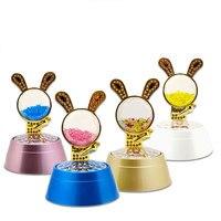 Renkli Projeksiyon Lambası Yanar Tavşan Müzik Kutusu Yaratıcı Yatak Odası Carft Dönen