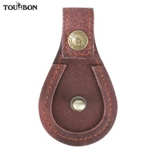 Tourbon Hunting Toe Pad Leather Shooting Gun Barrel Rest Protector Muzzle Aganist Clay Brown Accessories