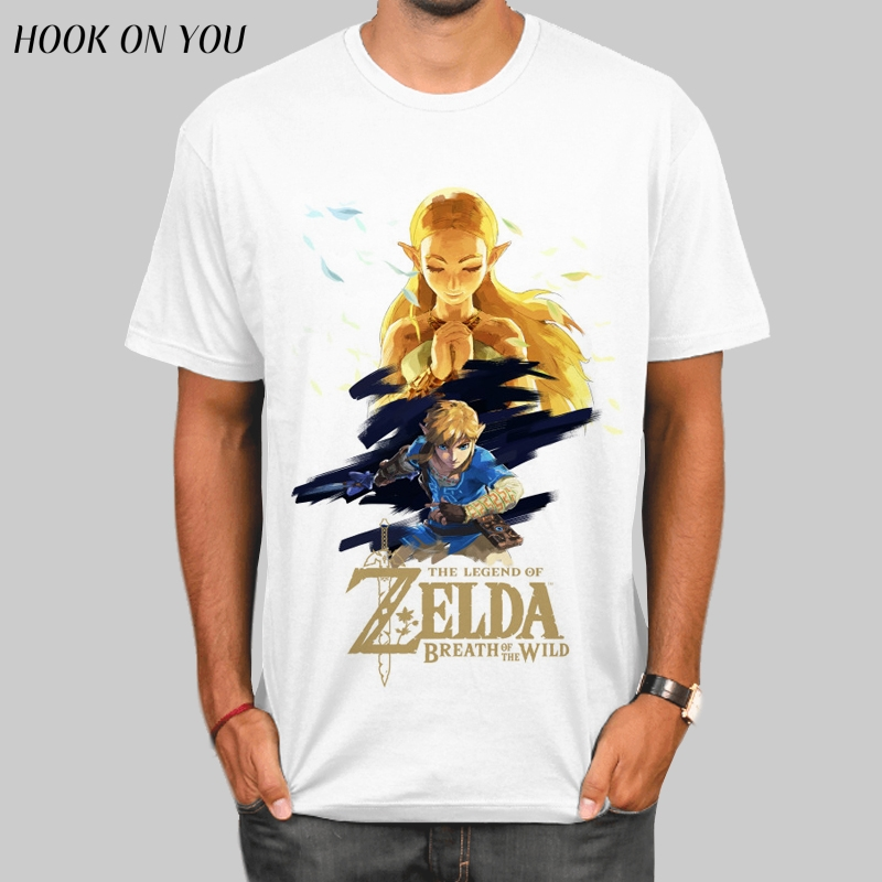 The Legend of ZELDA triforce Shirts Mens T Shirt Shirt Hot Sale Crewneck Youth T-Shirt Game Clothing Triforce Skyward Sword tees