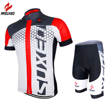 Men's Summer Cycling Short Sleeve Cycling Jersey MTB Bike Bicycle Outdoor Sportswear Clothing ShirtPadded Cycling Clothing