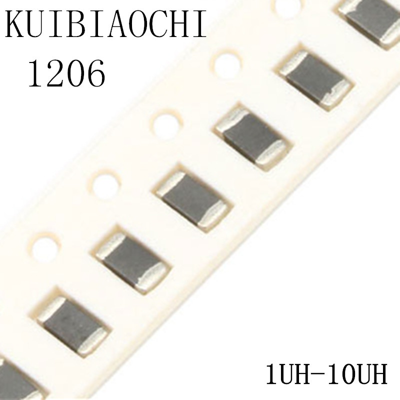 50pcs/lot 1206 SMD Chip Inductor 1uH 1.2uH 1.5uH 1.8uH 2.2uH 2.7uH 3.3uH 3.9uH 4.7uH 5.6uH 6.8uH 8.2uH 10uH конденсатор 50pcs lot smd tpsv687k006r0035 680 6 3vv avx