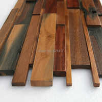 Navire naturel bois 3d ancien vieux bateau en bois mosaïque carreaux mur décoration matériaux HMWM1020 pour dosseret cuisine mur