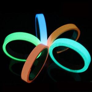 Image 2 - Светоотражающая самоклеящаяся клейкая лента, съемная светящаяся лента, флуоресцентная светящаяся темно яркая предупреждающая лента