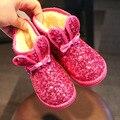 2016 Crianças Sapatos Sapatos Meninos Meninas Botas de Neve Criança Inverno Bota Quente Sapatos Meninas Botas de Inverno Para Crianças Tamanho 24-35