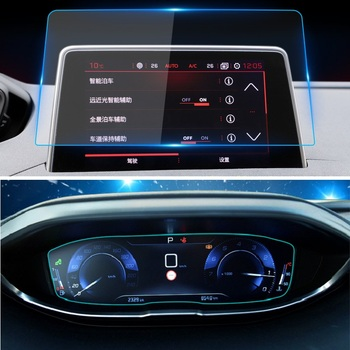 For Peugeot 3008 5008 3008GT 4008 2017 2018 2019 Accessory Screen Protective Film Car GPS Navigation Tempered Glass Protector image