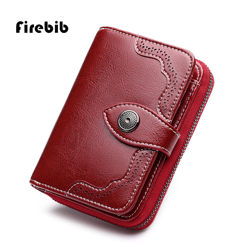 FireBib 2018 New Wallet Women Purse Brand Coin Purse Zipper Wallet Female Short Wallet Women Split Leather Purse Small Purse meotina shoes women sandals summer peep toe ankle strap platform wedges female bordered white blue beige shoes size 34 39fashion