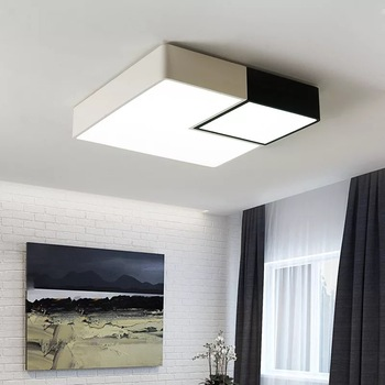 Modern Square Led Bedroom Ceiling Lights Personality Foyer Hanglamp Surface  Mount Restaurant Kitchen Nordic Ceiling Lamp Fixture