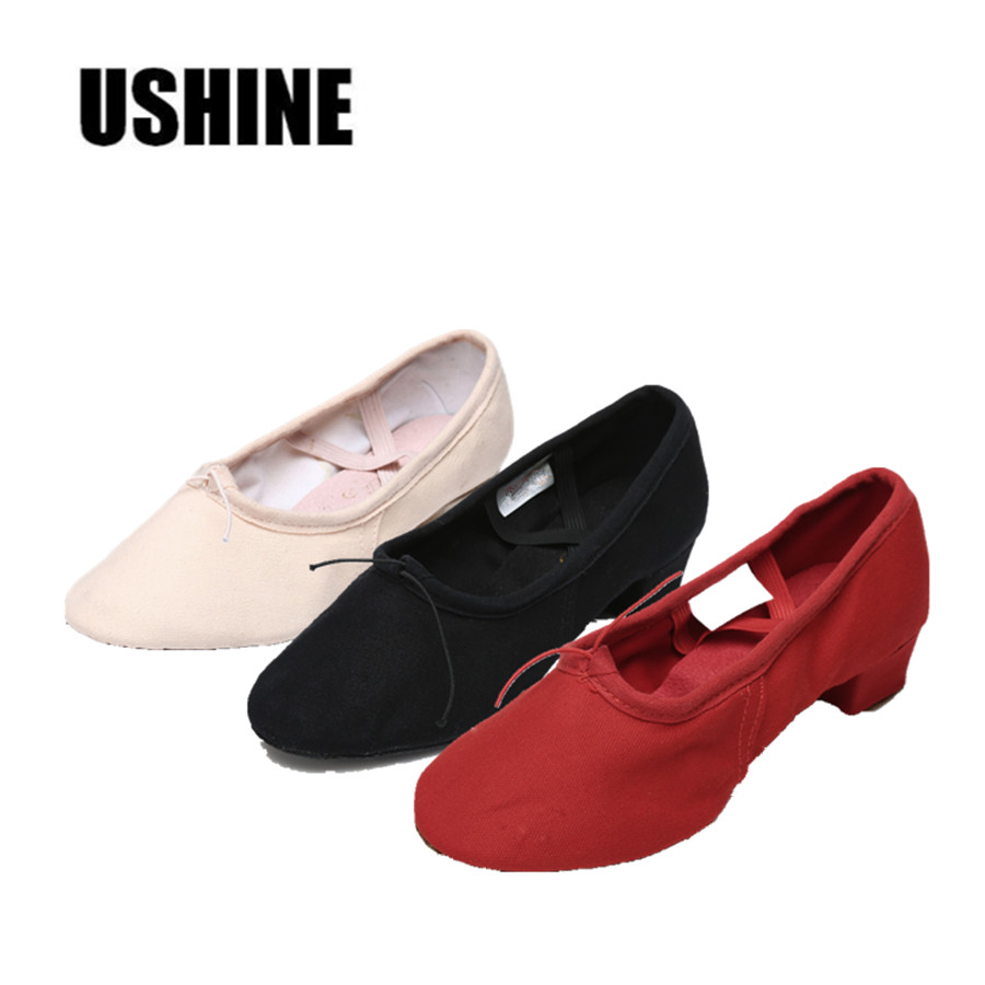 Professional Black Red Pink Ballet Dance Shoes Yoga Shoes Pratice Shoes Zapatos De Baile Latino Mujer