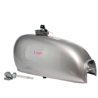 Sliver Motorcycle Universal 6L Gal Capacity Fuel Tank Dominator Gas For Retro Cafe Racer Tank Honda Jialing70