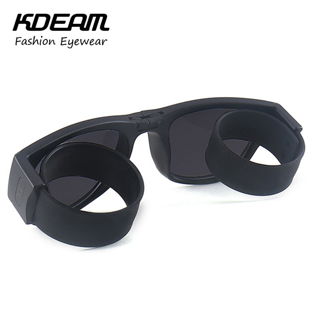 KDEAM Homens Sports Óculos de Sol Óculos Polarizados Óculos de Sol DOBRA Elástica Pé KD201 UV400 óculos de Polarização Óculos De Sol Das Mulheres Com Caixa de Marca