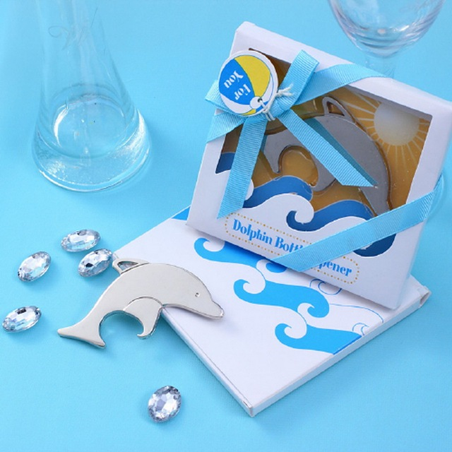 100pcs lot free shipping beach themed wedding favors silver dolphin