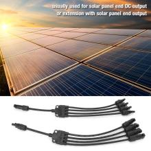 Y Type Solar Panel Cable Connector 1 Pair  Male Female MC4 Extension PV Wire Adapter