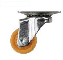 4PCS/LOT  Wheel D:25mm 1- inch Universal Nylon Caster (Loading2kg)